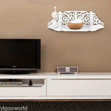 Chic Filigree Floating Wall Shelves For TV CD DVD Bookcase Display Storage Unit