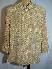 MISSES PRINTED 100% SILK BLOUSE SAKS FIFTH AVENUE THE WORKS  8 M