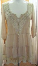 VINTAGE STYLE CREAM LACEY TOP, SIZE 10, URBAN ANGEL
