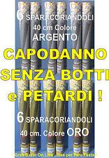 CAPODANNO SPARACORIANDOLI 40 cm. ORO e ARGENTO 12 Pz. in STOCK PROMOZIONE PARTY