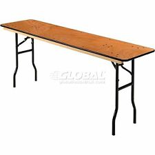 """Interion Plywood Folding Banquet Table 72"""" L x 18"""" W"""