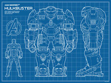 Avengers Age Of Ultron Hulkbuster Blueprint by TIMCAB Rare Iron Man Print