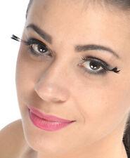 Faux cils plumes noires en coin externe de l'oeil yeux de biche originaux sexy
