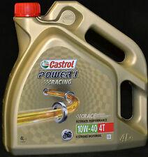 4 Liter Castrol Power 1 Racing 4T 10W-40 Motorrad Öl API SL JASO MA-2 10W40