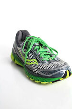 Saucony Silver Green Open Net Lace Up Progrid Ride 5 Sneakers Size 6.5