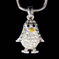 w Swarovski Crystal ~Gray Emperor Penguin~ Antarctica Pendant Girls Necklace New