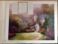 Multi-sign THOMAS KINKADE unframed BEYOND AUTUMN GATE 24x30 S/N Litho paper COA
