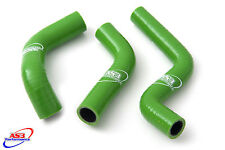 KAWASAKI KX 85 100 2014-2017 HIGH PERFORMANCE SILICONE RADIATOR HOSES GREEN
