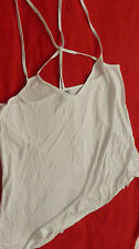 ASOS Women's White Cross Back Cami Top (Size UK20) BNWT