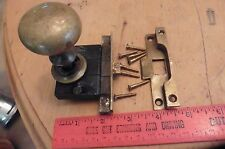 Vintage brass YALE door lock & knob with receiver made in USA (BB)