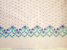 4 Yds Daisy Kingdom VIOLET COLLECTION Double-Border Cotton Fabric #3004