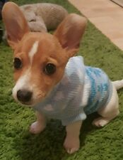 Chihuahua Size XSmall Cosy Blue Christmas Knitted Hoodie Jumper Pet Dog Clothes