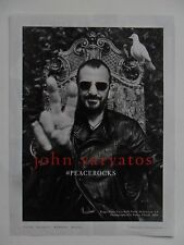 2014 Print Ad John Varvatos Clothing Fashion ~ Beatles RINGO STARR Peace Rocks