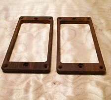 Cocobolo pickup ring set for PRS guitar - Flat for tremolo - Recessed Holes