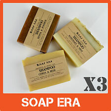3 x premium shampoo bars -All natural handmade vegan soap-Free shipping