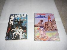 2(two) BOOKS -STAR WARS POP-UP BOOK:The Empire Strikes Back & Adventures of Luke