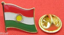 Kurdistan Country Flag Lapel Hat Cap Tie Pin Badge Brooch Kurds Kurdish