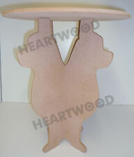 CHIHUAHUA SHAPE TABLE WITH ROUND TOP IN MDF (450mm x 9mm thick)/WOODEN CRAFT