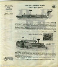 1916 ADVERT Badger Road Repair Rutter Plow Logging Timber Claire Mill Supply