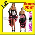Deluxe PINK Burlesque Costume Fancy Showgirl Vegas Babe 8-PLUS SIZE