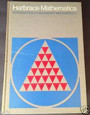 HARBRACE MATHEMATICS Introduction To Secondary Mathematics 2 Hardcover Book 1972