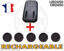 CHARGEUR + 5 PILES BOUTON CR2450 RECHARGEABLE 3.6V LIR2450 CR2450 BATTERY ACCU