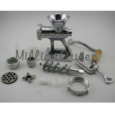 Meat Grinder Mincer Machine Maker + Sausage Filler Attachment Mincers Hand Tool
