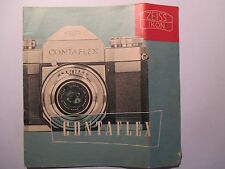 Prospekt Zeiss Ikon Contaflex  1950er Jahre 16 Seiten