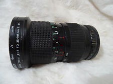 Canon FD 35-105mm f3.5 macro lens with filter optics unmarked