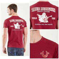 NWT $66 True Religion TR Men`s Cranberry Double Puff T-shirt Short Sleeve Sz M