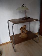 Original Bauhaus Art Deco Stahlrohr  Regal Beistelltisch  Funktionalismus 30er