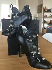DSQUARED2 stiletto style designer heeled ankle boots with silver studs 100% AUTH