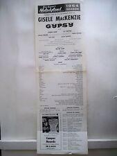 GYPSY Playbill GISELE MacKENZIE / JOSEPH LEON / KIT SMYTHE Berkeley, CA 1964