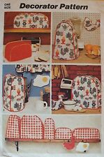 VTG 72 SIMPLICITY 5495 Home Dec/Appliance Covers ~Chicken/Egg Potholders PATTERN