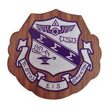 """Sigma Sigma Sigma """"Tri-Sig"""" Mini Wood Crest 1.5"""" Paddle Accessory"""