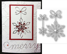 PRECIOUS SNOWFLAKE metal die cut set - MEMORY BOX dies 98729 Holidays,winter