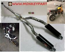 Honda Msx Grom 125 Dual Exhaust Systems Race Stainless Aluminum Pipe Header Part