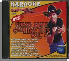 Karaoke CD+G - Super Male Country Hits Vol 2 - New 8 Song Performer's Choice CD!