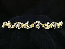 Gold Butterfly Bridal Wedding Rhinestone Tiara OT231