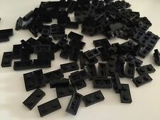 100 - LOT LEGO 1x2 BLACK Plates Bulk Building Brick Creator CITY STAR WARS tile