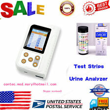 US seller,Portable Urine Analyzer Color LCD 11 Parameters,test strips,USB,FDA,CE