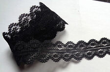 Jessica Lace Ribbon black 1 1/8 inch wide  selling by the yard