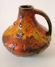 60s Carstens fat lava Keramik Vase ceramic west german pottery Gerda Heuckeroth