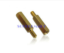 10Pcs M5x20 Copper Column Male Hexagon Stand-off Spacers 7mm Thread Length
