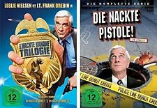 4 DVDs * DIE NACKTE KANONE 1/2/3 + NACKTE PISTOLE KOMPLETT IM SET # NEU OVP +