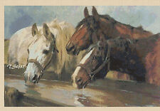 Cross Stitch Chart - 3 horses -- no. 319 TSG37 - FREE UK P&P