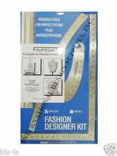 Fairgate 15-102 Fashion Designer's kit Essential Pattern Making Rulers