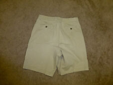CARIBBEAN JOE DENIM RELAXED CELL KHAKI SUMMER SHORTS SZ--33         #Z69