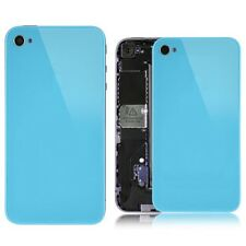 Light Blue Glass Back Screen Replacement Rear Case Cover Assembly for iPhone 4S