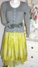 Noa Noa Rock Skirt Shakespeare Silk Seide Pistaziengrün  size: S Neu